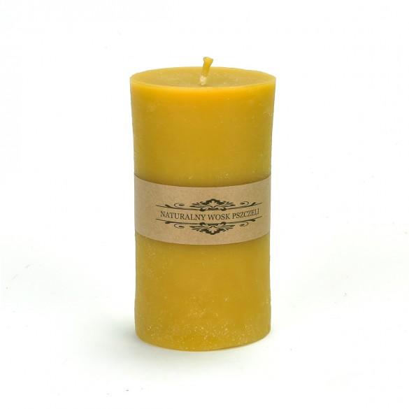 Świeca z wosku pszczelego duża - wys. 10 cm, 1 szt.