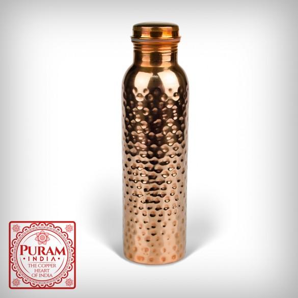 Miedziana butelka młotkowana antybakteryjna 900ml