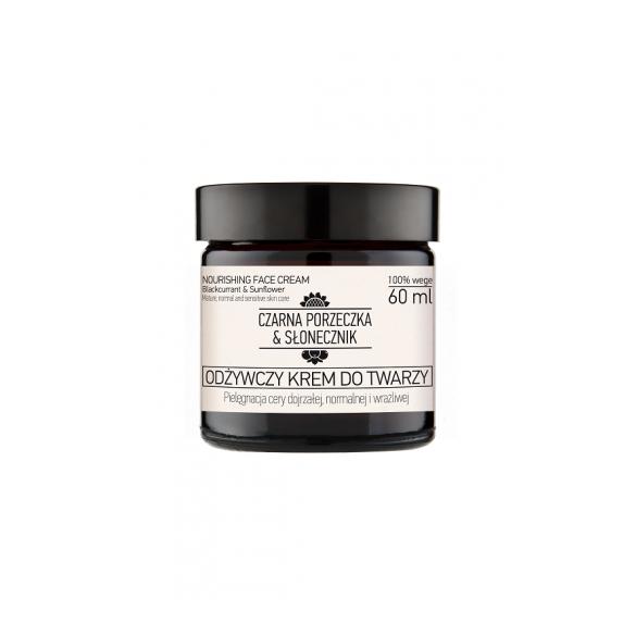 Odżywczy Krem do twarzy Czarna porzeczka & Słonecznik 60 ml - cera dojrzała, normalna i wrażliwa