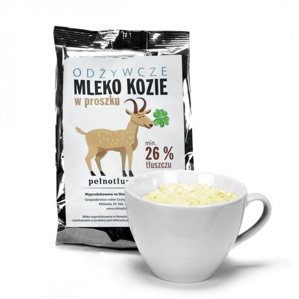 Odżywcze mleko kozie w proszku - 26 proc. tłuszczu