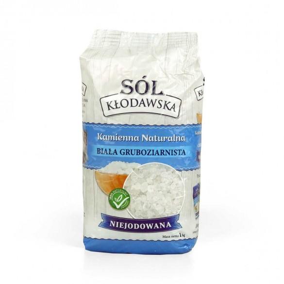 Biała sól Kłodawska gruboziarnista naturalna niejodowana 1kg