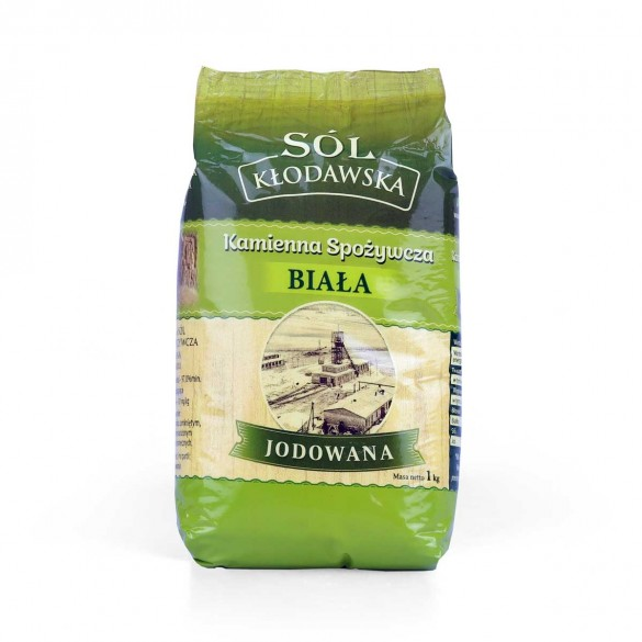 Sól Kłodawska kamienna spożywcza biała jodowana 1kg