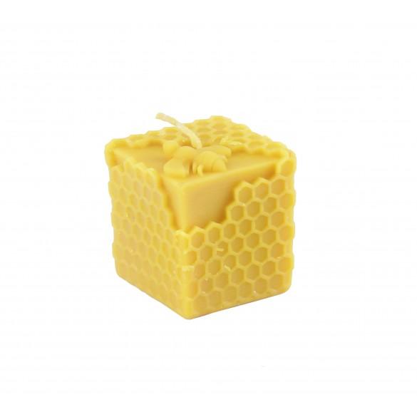 Unikatowa ręcznie robiona świeca z wosku pszczelego