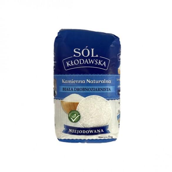 Sól Kłodawska Kamienna Spożywcza – Drobnoziarnista Biała Niejodowana