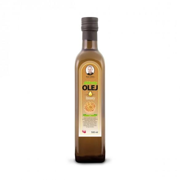 Świeży Naturalny Olej Lniany