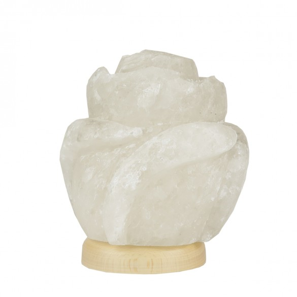 Róża - Lampa solna rzeźba naturalny jonizator powietrza sól kłodawska 6