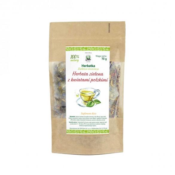 Herbata zielona z kwiatami polskimi 70g