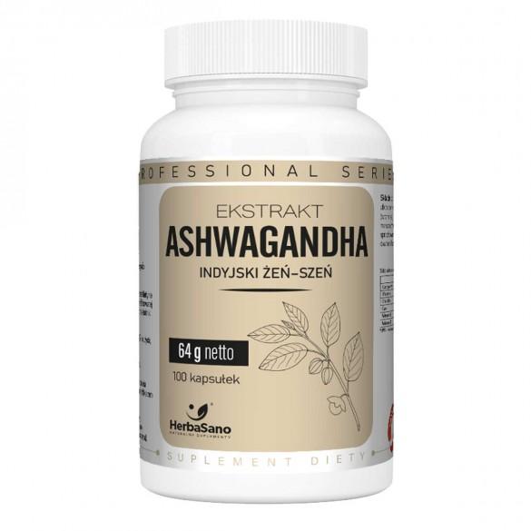 ASHWAGANDHA ekstrakt Indyjski Żeń-szeń - HerbaSano