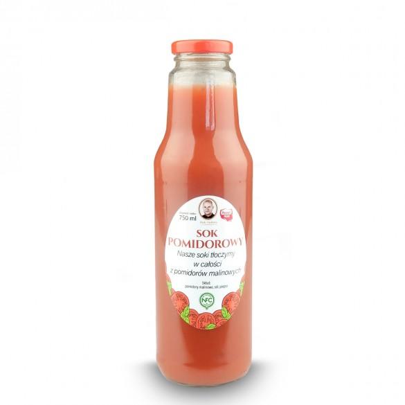 Naturalny sok pomidorowy tłoczony w całości z pomidorów malinowych