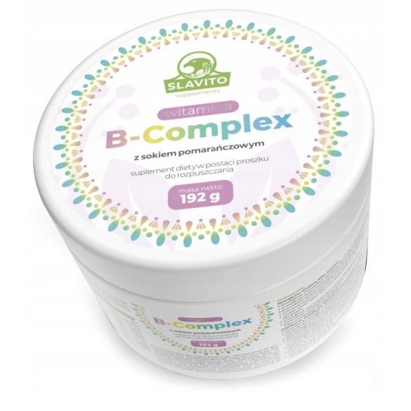 SUPLEMENT DIETY Witamina B-Complex z sokiem pomarańczowym do rozpuszczania 192 g