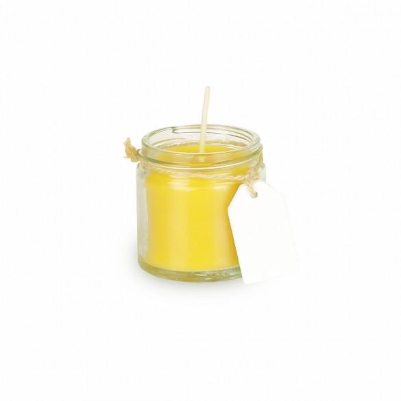 Świeca z wosku pszczelego w szklanym słoiku 60ml
