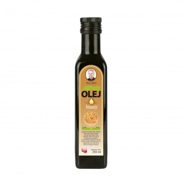 Świeży naturalny olej lniany 250 ml