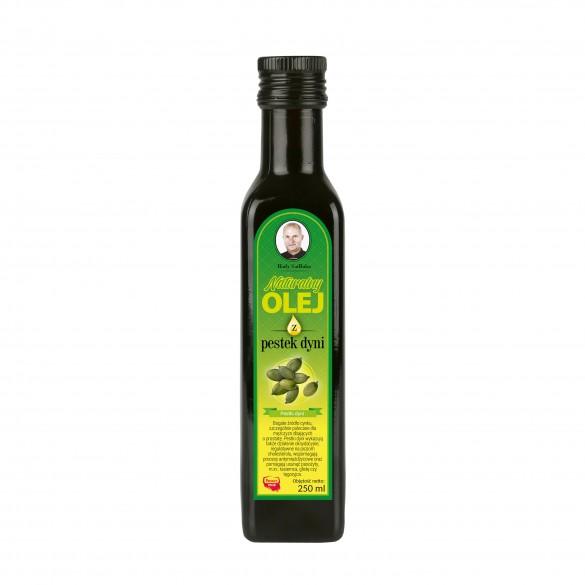 Świeży naturalny olej z pestek dyni 250 ml