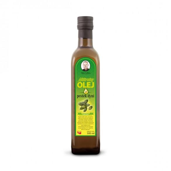 Świeży naturalny olej z pestek dyni 500 ml