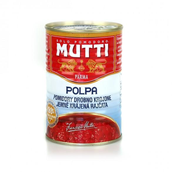 MUTTI Pomidory drobno krojone bez skórki