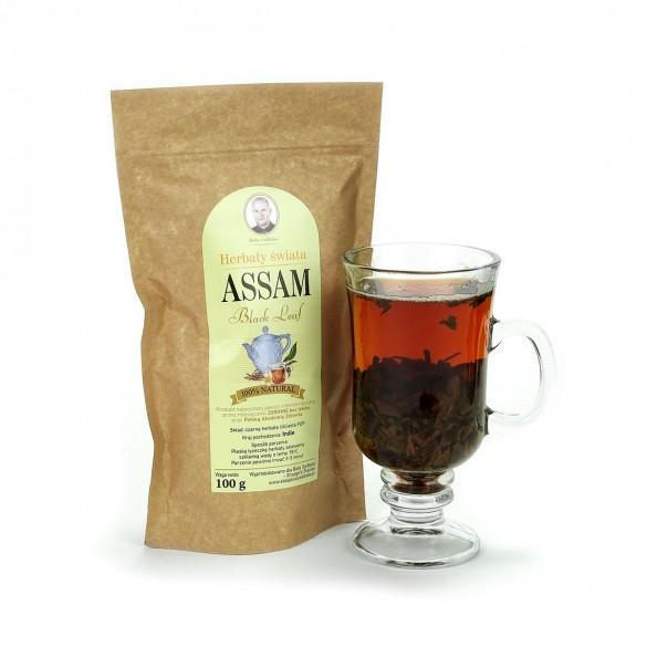 Czarna herbata Assam z Indii, susz - 100 g