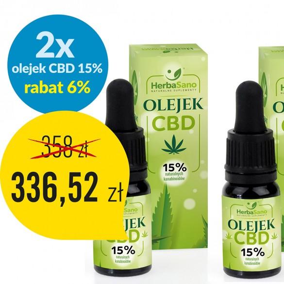 2 x Olejek CBD 15 % naturalnych kanabinoidów