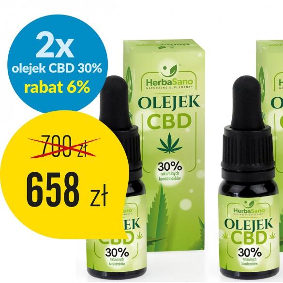 2 x Olejek CBD 30 % naturalnych kannabinoidów