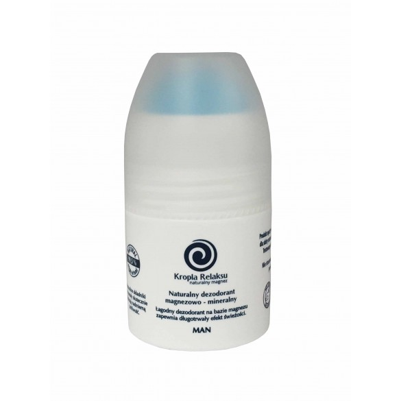 Naturalny dezodorant magnezowy Kropla Relaksu bez aluminium but. 60ml. Man